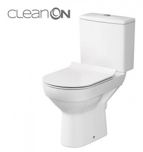 Wc Kompakt City New Cleanon 011 3/5 Z Deską City Slim Duroplastową